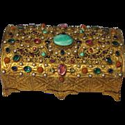 SOLD On Hold R.  Antique Jeweled Ormolu Austrian Casket Box