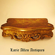 SOLD Antique French Gilded Plateau Base