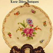 """SOLD Richard Klemm Dresden Porcelain Floral 6"""" Plates  Set of 6"""
