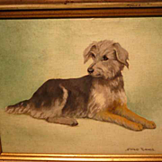 SOLD Maud Turner Terrier Dog Painting