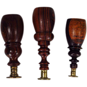 Wood Handle Wax Seal Set of Three