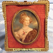 SOLD Portrait Miniature Beautiful Lady
