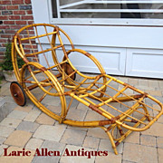 SOLD Art Deco Bamboo Chaise Lounge Chair