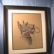 SOLD Scottish Terrier by Henry Vincent-Anglade
