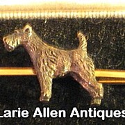 SALE PENDING 9ct Gold Terrier Dog Bar Pin Brooch