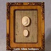 SOLD Antique Italian Plaster Cameos Grand Tour Framed