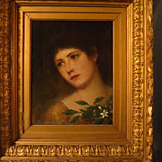 SOLD Portrait Young Woman Signed George Von Hoesslin