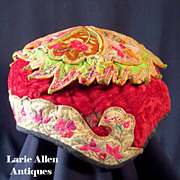 SALE Chinese embroidered child's hat
