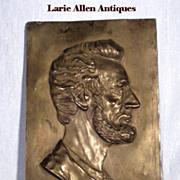 Large Abraham Lincoln Relief Profile Plaque