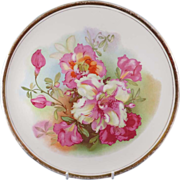 Dresden China Floral Plate 10.5 in.