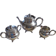 SALE Silver Plated 3-Piece Tea Set, Wilcox Silver Plate Co. Founded 1865 Meriden, CT
