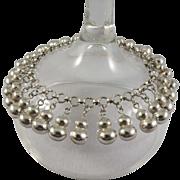 SALE Vintage Sterling Silver Bangle/Dangle Bracelet, Mint