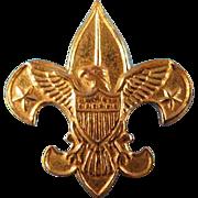 1911 Gold Tone Metal Boy Scout Pin
