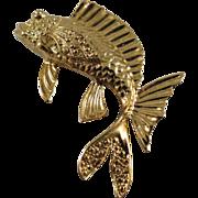 Vintage Gold-Tone Fish Pin