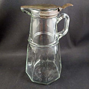 SALE Vintage Syrup Pitcher Pat. 1915 and 1916