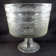 SALE Large Compote on Flared Fluted Base