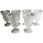 SALE Fostoria American 5 ½ in. Low Water Glass Round Foot Set of 6