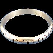 SALE Sterling Silver Bangle Bracelet, Mexico