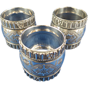 SALE Vintage Ornate Silver Plated Napkin Rings
