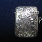 Vintage Sterling Lady's Match Safe/Vesta