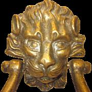 Bronze Lion Head Door Knocker
