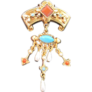 """Vintage Brooch Signed by """"Art"""" Victorian Style"""
