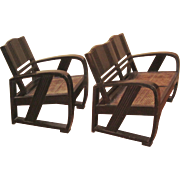 Chinese Art Deco Chair and Settee