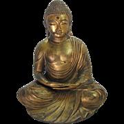 "Large 14"" Tall Gilt Bronze Seated Buddha"