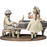 """Lladro Porcelain figural group titled """"Jazz Duo"""" by Antonio Ramos"""