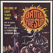 "Original Movie Poster ""Battle Beyond the Sun"" 1962 Sci-Fi Cult Classic"
