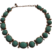 Vintage Trifari Choker Necklace Robin's Egg Blue