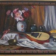 Ferenc Vardeak Oil Painting on Canvas  Still Life