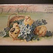 1910 Tuck's Easter Postcard with Cute Baby Chicks