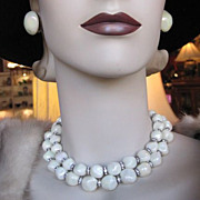 Vintage Demi Parure by Bergere  Necklace and Earrings