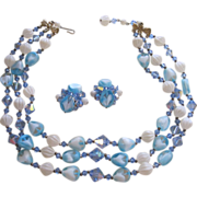 Vintage Vendome Demi Parure  Necklace Earrings Set..Rare set!