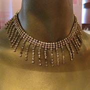 Vintage Kramer Egyptian Revival Bib Dangle necklace & bracelet