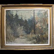 Vintage Impressionist Oil on Board, Swedish, Framed and Signed