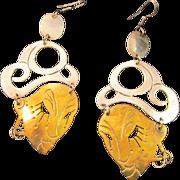 Vintage Mexican Sterling Silver Earrings in Blackamoor or Genie with Turban