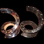 "Mid-Century Dansk ""Spiral"" Silver Plate Candelabra--Bertil Vallien Design"