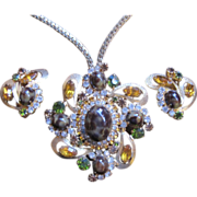 Juliana Demi Parure Necklace and earrings