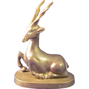 Art Deco Gazelle Bronze Statue