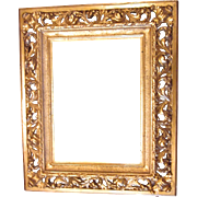 SOLD Antique Ornate Gold Gilt Gilded Wood Picture Frame Heavily Carved, Pierced, 3D