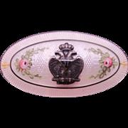 Sterling Enamel Guilloche Brooch 33rd Degree Freemasons Emblem Double head eagle