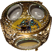 Vintage Jewelry Casket 5 sided