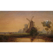 19th c. oil on canvas painting by Passmore