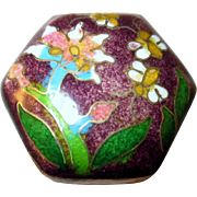 Vintage Asian Hinged Cloisonne Pill/Ring Box