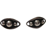 """825 Sterling Silver Taxco Pair of Screw back Earrings Signed """"Emma"""""""