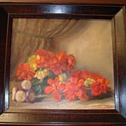 REDUCED Original Framed Flemish Oil Painting: J Van der Maele 1940s