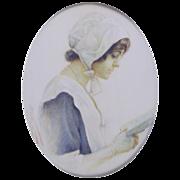 Frances M. Needham (British fl.1911) Portrait Miniature of the Actress Miss Gertie Millar in .