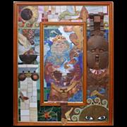 """Philip Harlequin Palmer (British b.1963) """"The Mirror of Circe"""" (2011) Painting & Scu"""